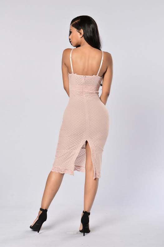 He Noticed Me Mesh Dress - Mauve