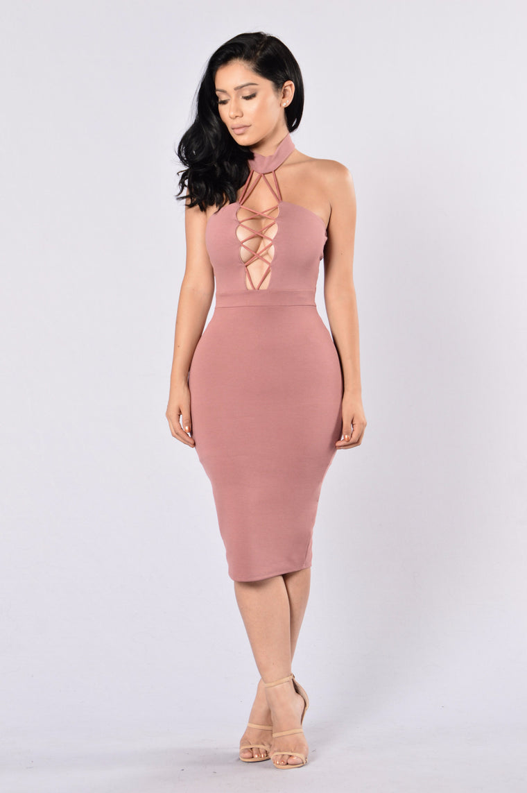 Omnia Dress - Mauve