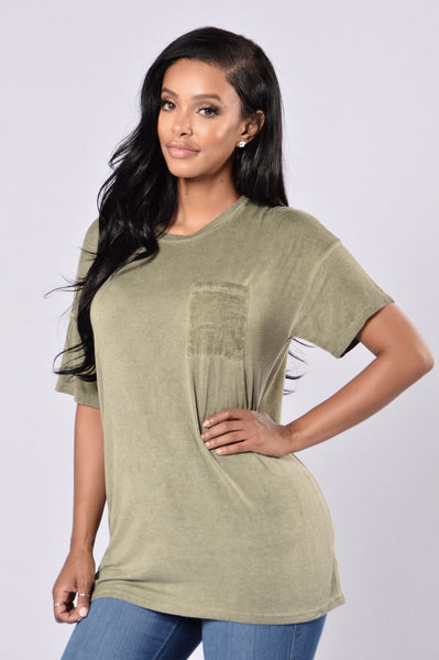 On The Road Tee- Olive