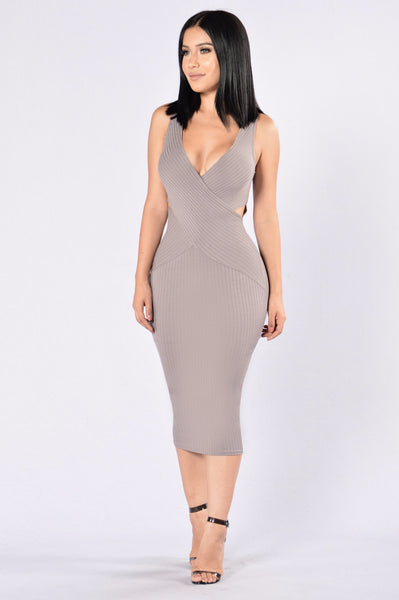 Overboard Dress - Grey