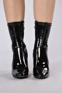 Penthouse Boot - Black Patent Angle 2