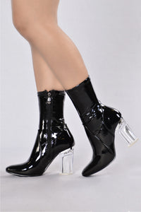 Penthouse Boot - Black Patent Angle 1