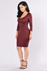 Pivotal Dress - Burgundy