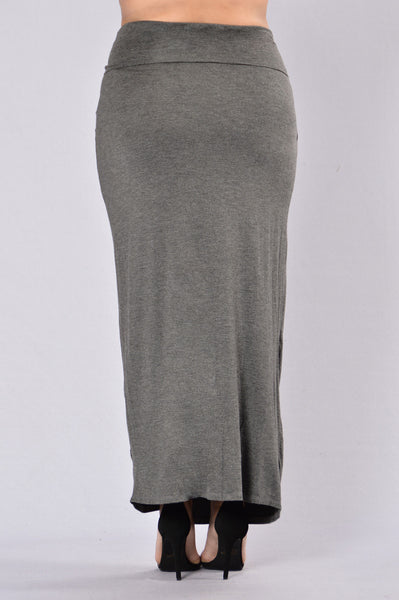 Pressed Down Skirt - Charcoal