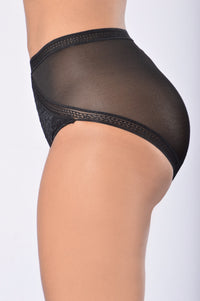 Reduce and Seduce High Waist Panty - Black Angle 4