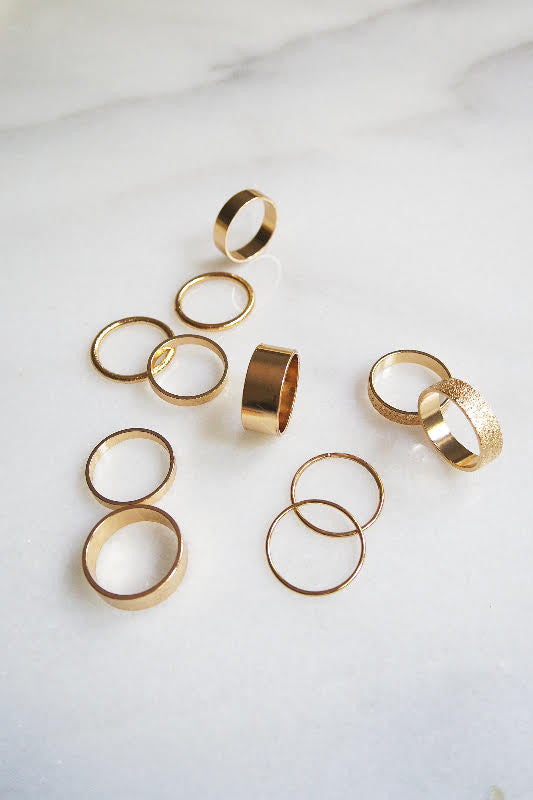Golden Goddess Ring Set - Gold