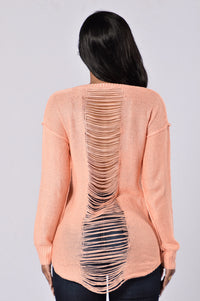 Looking For Fun Sweater - Peach Angle 1