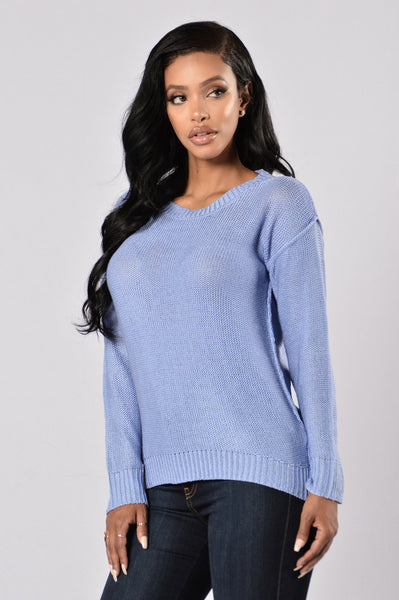 Looking For Fun Sweater - Sky Blue