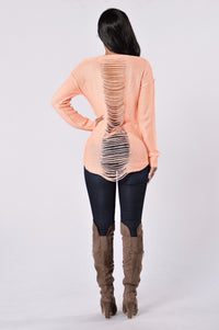 Looking For Fun Sweater - Peach Angle 4