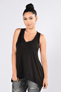 Run for Your Money Tank Top - Black