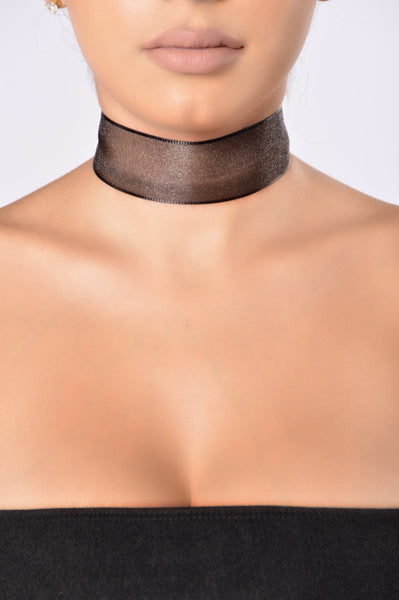 Seeing You Choker - Black