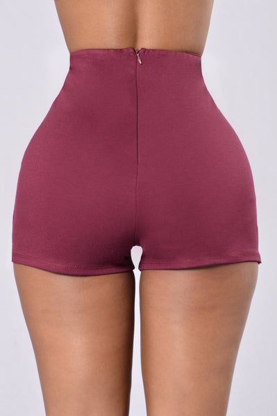 See You Looking Shorts - Burgundy