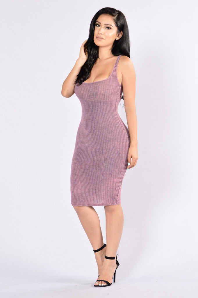 Setting Goals Dress - Plum