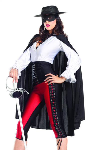Sexy Bandit Costume - Black/White