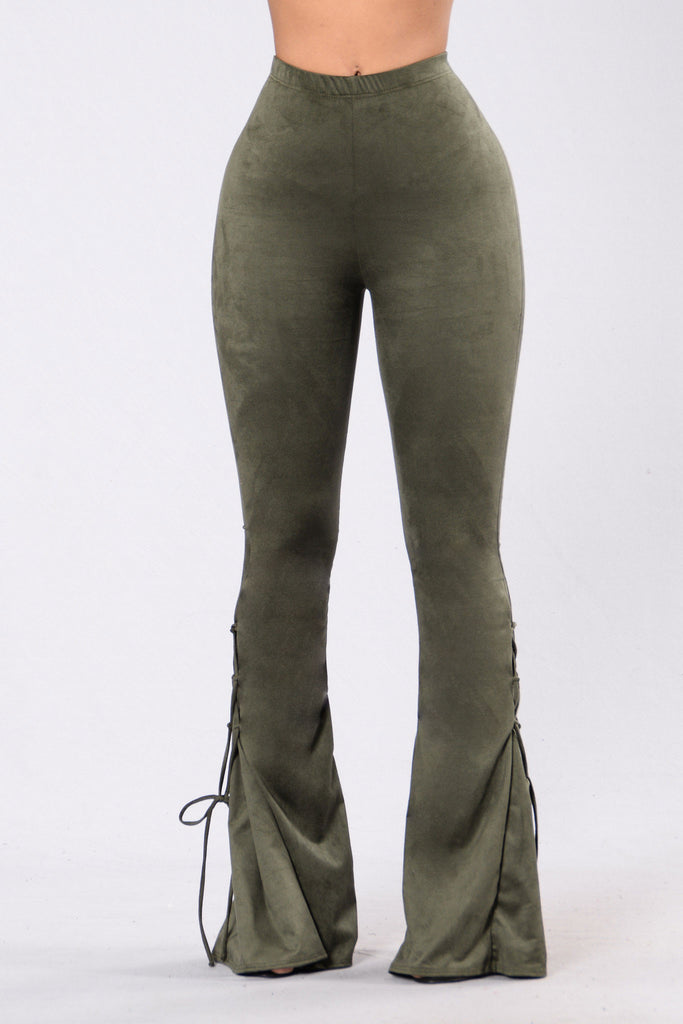 Let's Get Lost Pants - Dark Olive