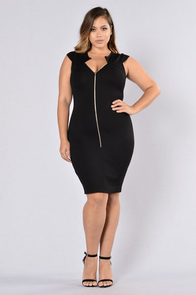 Shut It Down Dress - Black