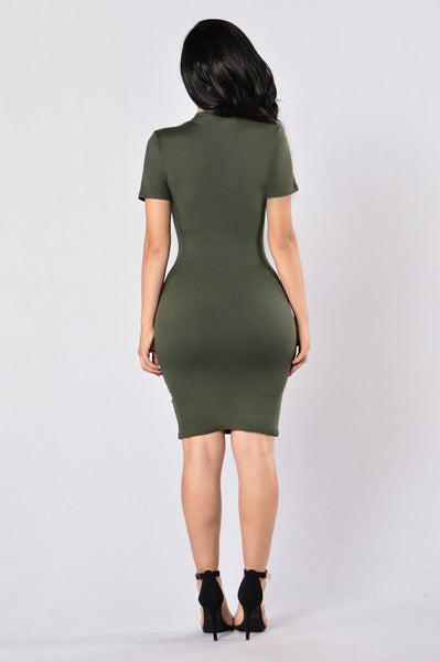 Simply Perfect Dress - Olive