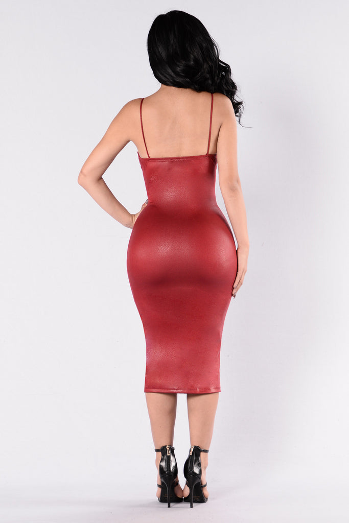 Sneaky As Can Be Dress - Red