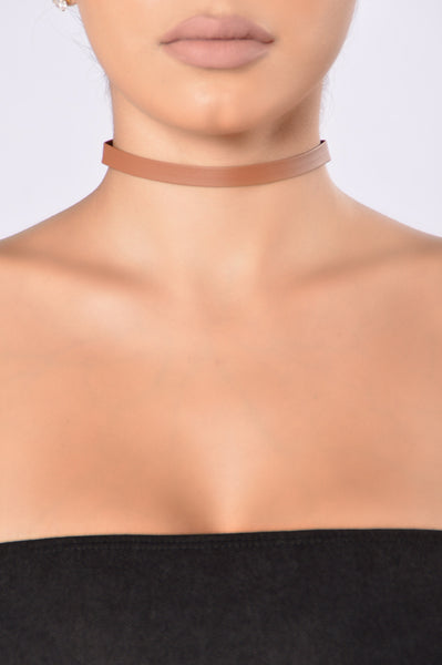 Go For It Choker - Brown