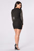 Star Studded Event Dress - Black