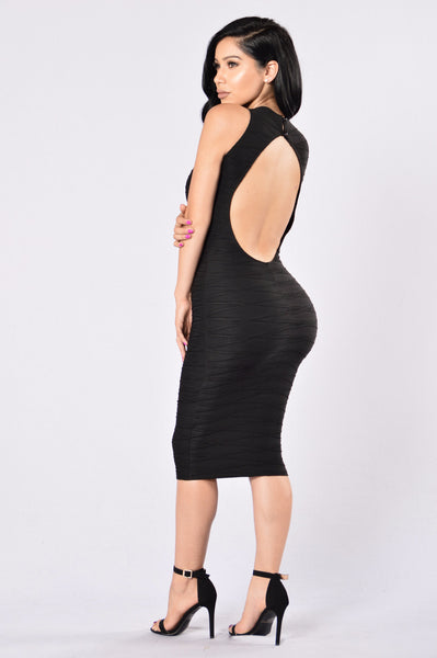 Stick To Me Dress - Black