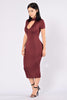 Temptation Dress - Burgundy