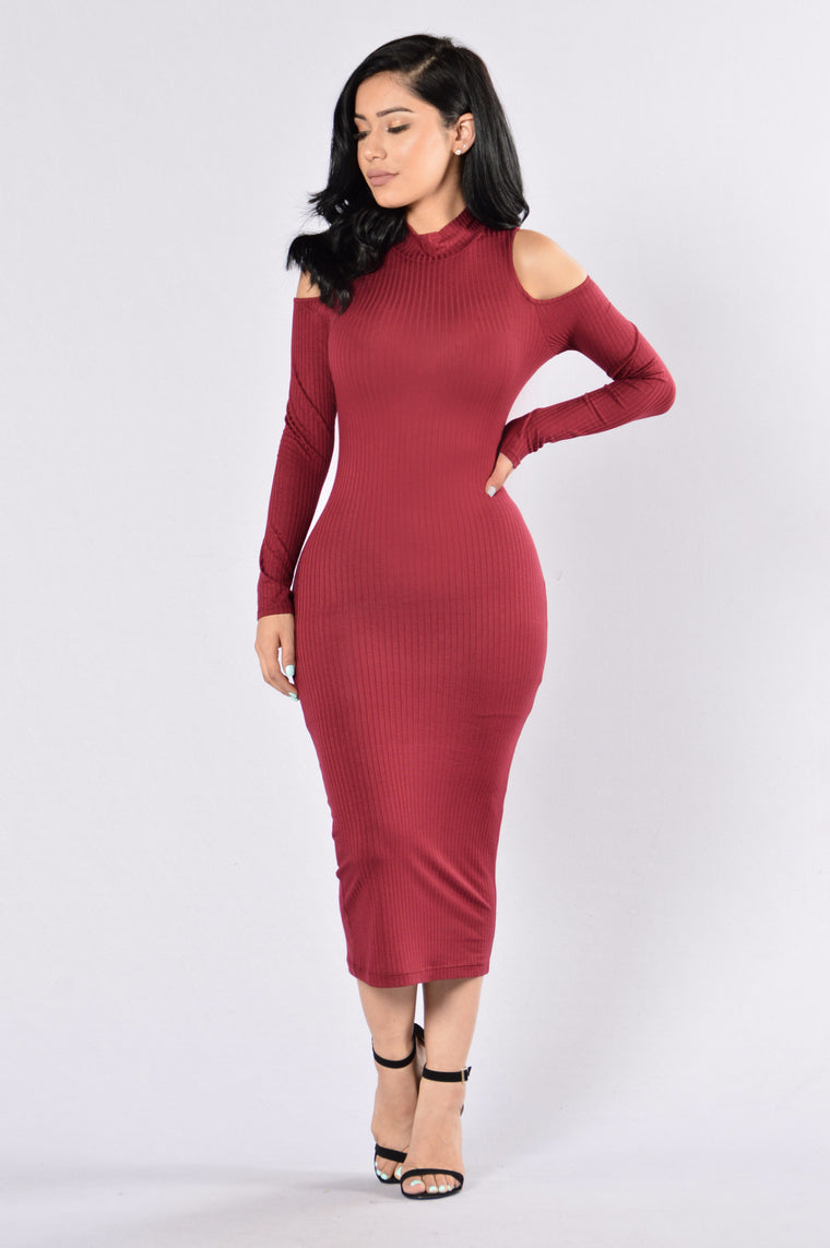 The Look Dress - Burgundy