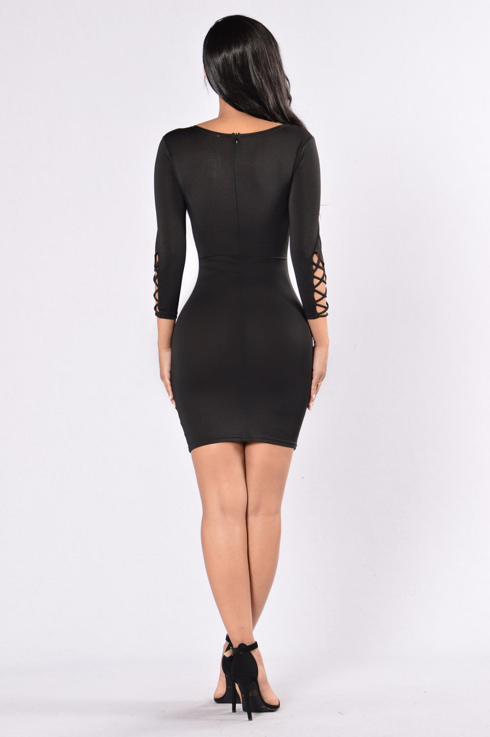 Always Up To Trouble Dress - Black