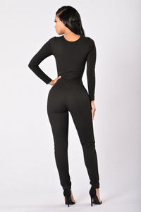 I See You Lookin' Jumpsuit - Black