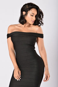 Stay On His Mind Dress - Black
