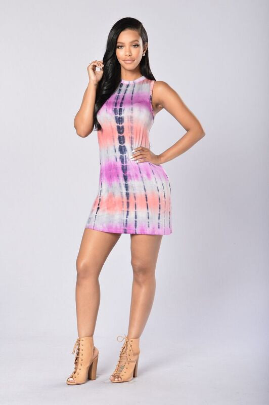 Coco Dress - Pink Multi
