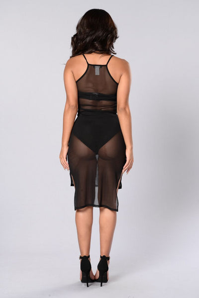 Killin' It Mesh Dress - Black
