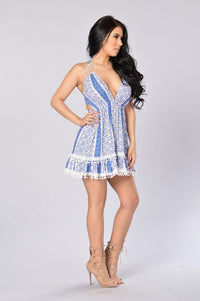Island Hopping Dress - Blue