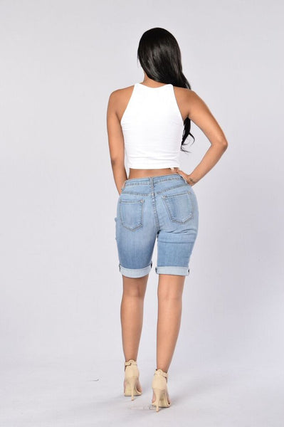 Shipwrecked Bermuda Shorts - Denim Blue