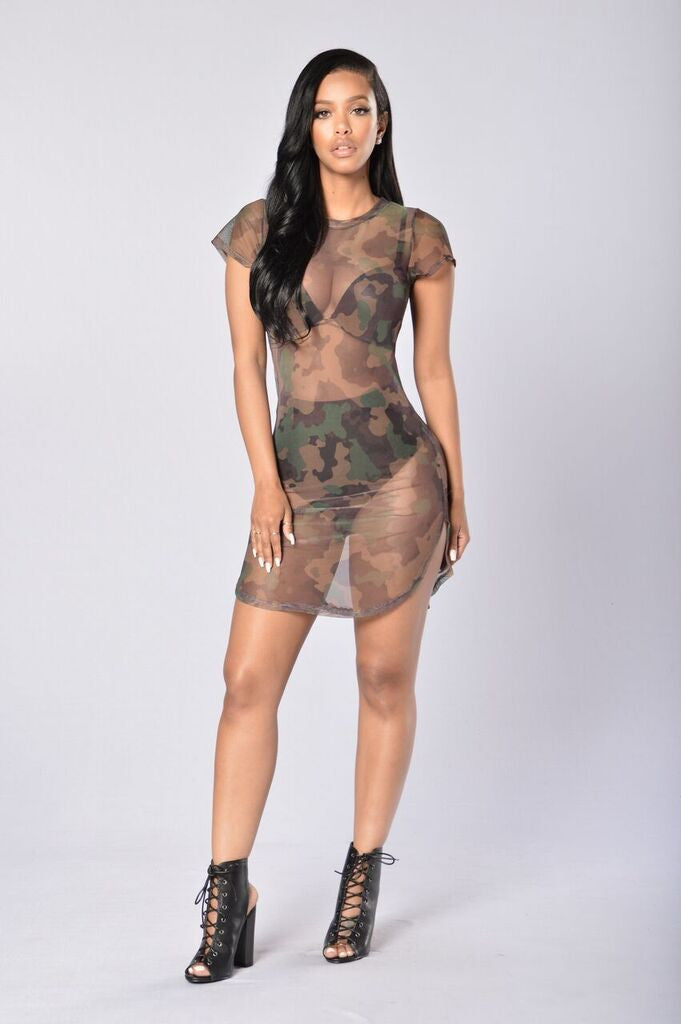 Courage Under Fire Dress - Camo