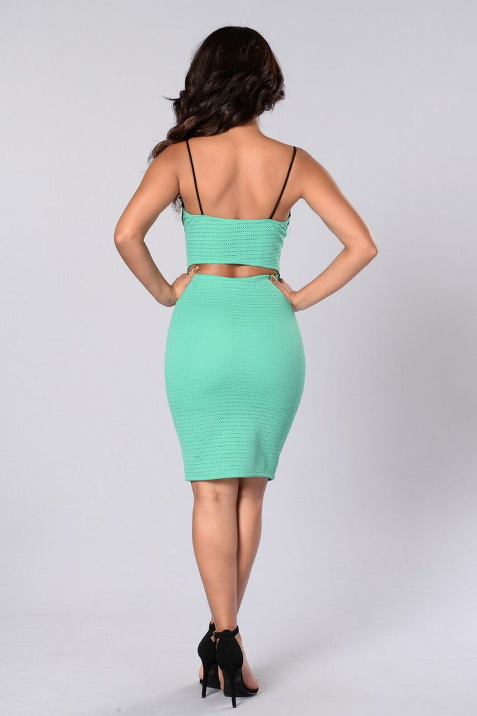 Pick Your Poison Dress - Green/Black