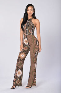 Wild Thing Jumpsuit - Brown/Multi Angle 1