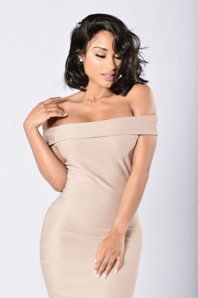 Stay On His Mind Dress - Nude