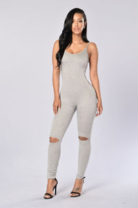 Jetsetter Jumpsuit - Heather Grey