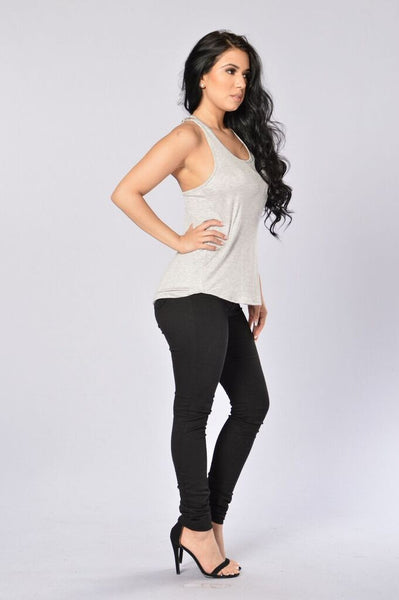 Brandy Tank - Heather Grey