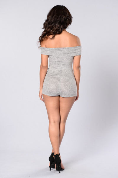 Kaitlynn Romper - Heather Grey