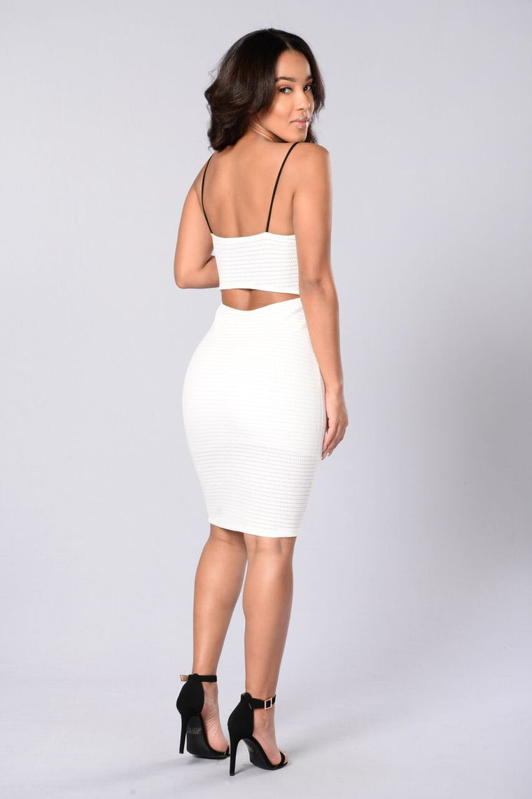 Pick Your Poison Dress - White/Black