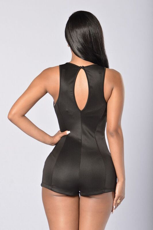 Hot And Bothered Romper - Black