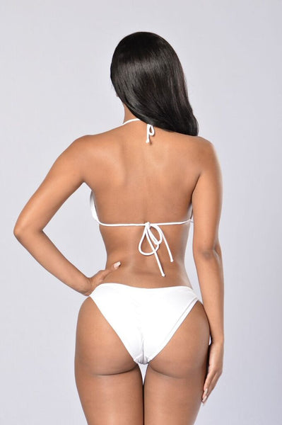 By The Pool Chain Bikini - White