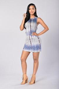 Coco Dress - Blue Multi