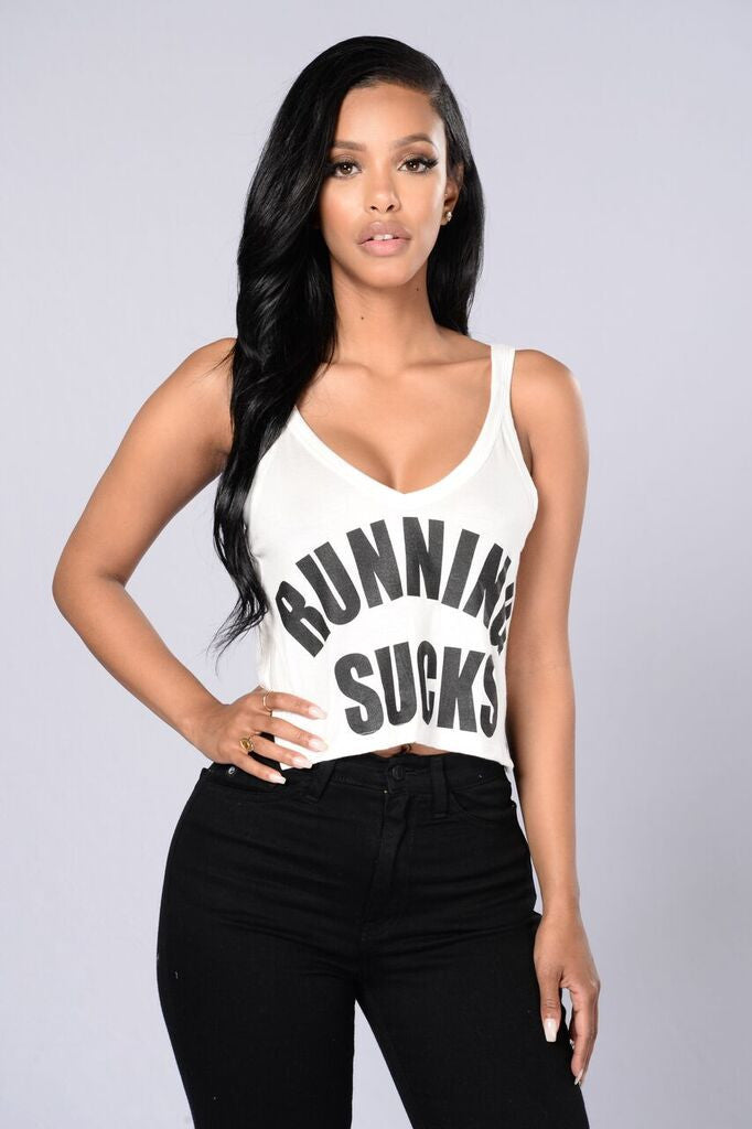 Running Sucks Tank - White