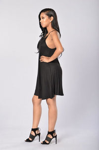 Pinned Dress - Black