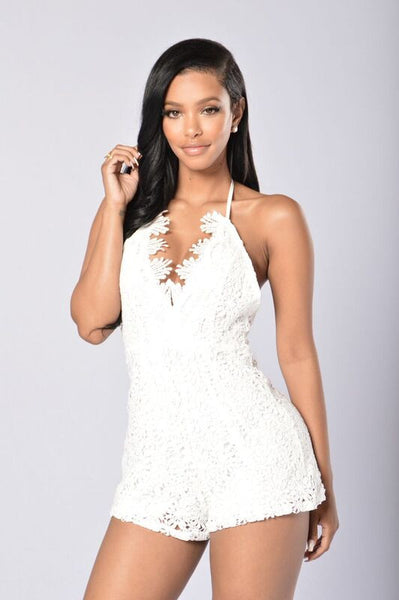Elegant Entry Romper - White