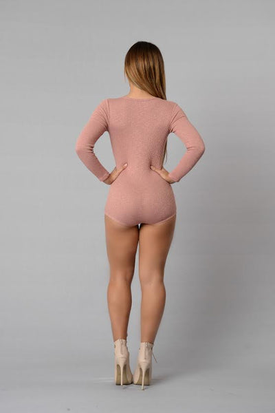 Up All Night Romper - Rose
