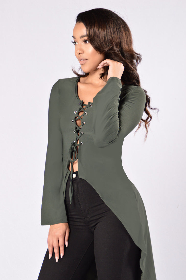 Wavey Top - Olive